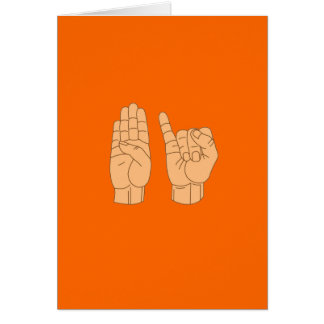 BISEXUAL in American Sign Language Greeting Card