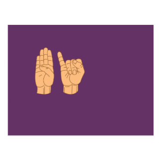 BISEXUAL in American Sign Language Postcard