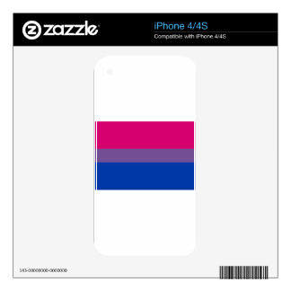 Bisexual LGBT Pride Rainbow Flag Decals For The iPhone 4