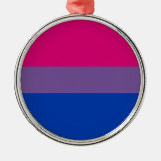 Bisexual LGBT Pride Rainbow Flag Metal Ornament