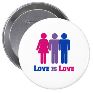 Bisexual Love is Love - Button