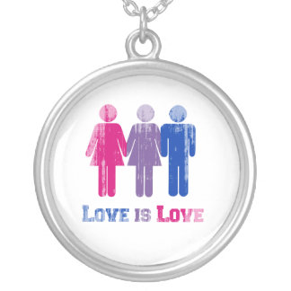 Bisexual Love is Love distressed Custom Jewelry