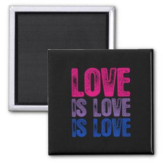 Bisexual Love is Love is Love Magnet