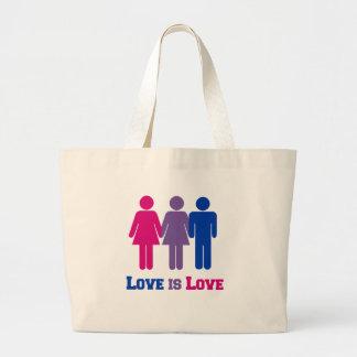 Bisexual Love is Love Large Tote Bag