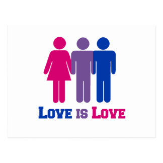 Bisexual Love is Love - Post Cards