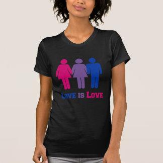 Bisexual Love is Love Tee Shirt