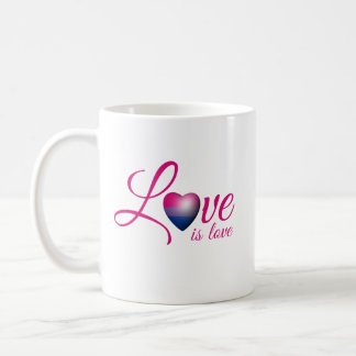 BISEXUAL LOVE IS -.png Classic White Coffee Mug