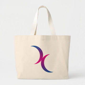 Bisexual moon symbol tote bag