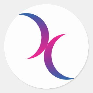 Bisexual moon symbol stickers