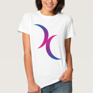 Bisexual moon symbol T-Shirt