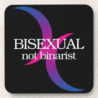 Bisexual, no binarist posavasos de bebidas