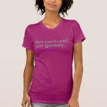 Bisexual no codicioso no confundido camisetas