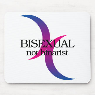 Bisexual, not binarist mouse pad