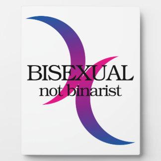 Bisexual, not binarist plaques
