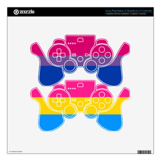 Bisexual & pansexual pride flags PS3 controller decals