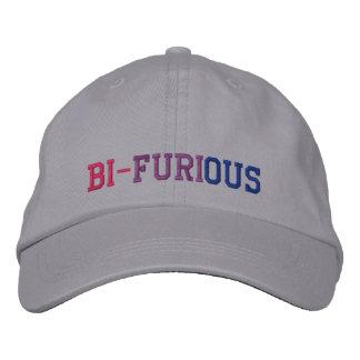 """Bisexual Power """"Bi-Furious"""" LGBT Baseball Cap"""