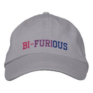 bisexual power bi furious lgbt embroidered baseball cap