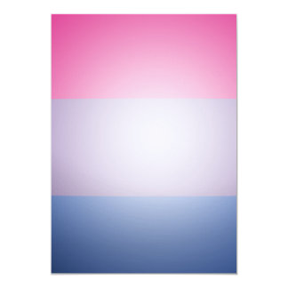 "BISEXUAL PRIDE 3D COLORS 5"" X 7"" INVITATION CARD"
