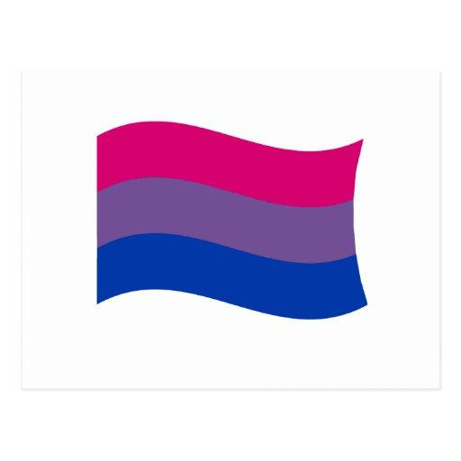 Bisexual Pride Banner Postcard