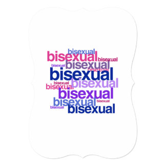 "BISEXUAL PRIDE CLUSTER 5"" X 7"" INVITATION CARD"