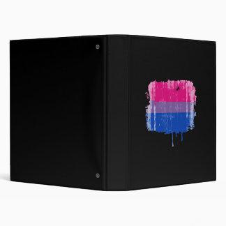 Bisexual Pride Colors distressed png Vinyl Binders