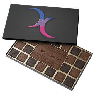 Bisexual Pride Crescent Moons 45 Piece Assorted Chocolate Box