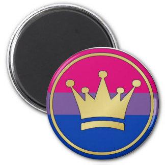 Bisexual Pride Crown Fridge Magnet