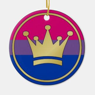 Bisexual Pride Crown Ornament