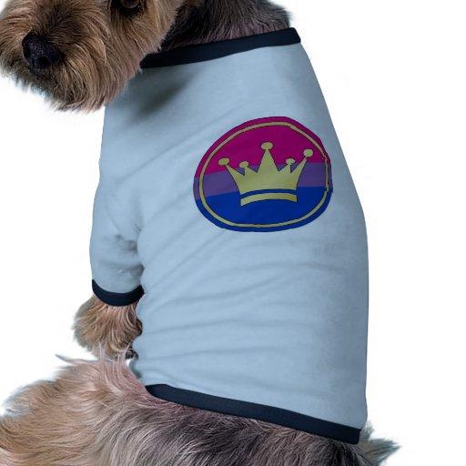 Bisexual Pride Crown Pet Tshirt