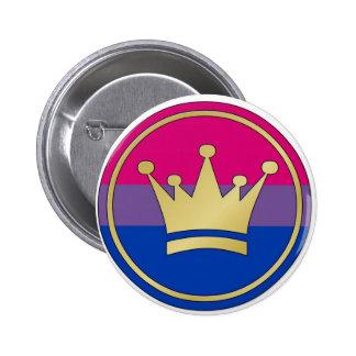 Bisexual Pride Crown Pinback Button