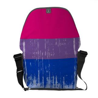 Bisexual Pride distressed.png Courier Bag