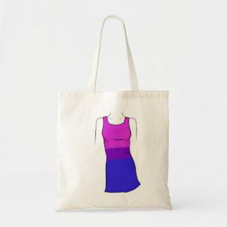 Bisexual Pride Dress Budget Tote Bag