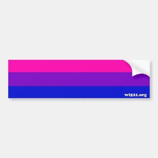 Bisexual pride flag bumper sticker car bumper sticker