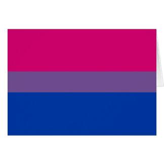 Bisexual Pride Flag Card