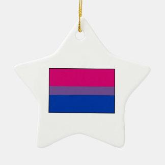 Bisexual Pride Flag Ceramic Ornament