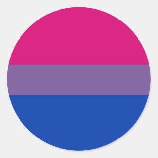 Bisexual Pride Flag Classic Round Sticker