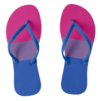 Bisexual Pride Flag Colors LGBT Flip Flops