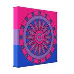 Bisexual Pride Flag Colors Mandala LGBT Canvas Print
