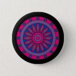 Bisexual Pride Flag Colors Mandala LGBT Pinback Button