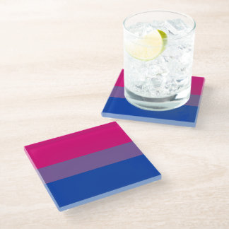Bisexual Pride Flag Complete Design -.png Glass Coaster