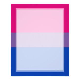 Bisexual Pride Flag Custom Flyer