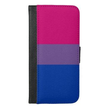 Bisexual Pride Flag iPhone 6/6s Plus Wallet Case