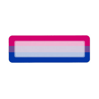 Bisexual Pride Flag Label
