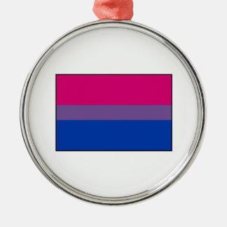 Bisexual Pride Flag Metal Ornament