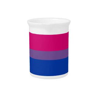Bisexual pride flag drink pitcher