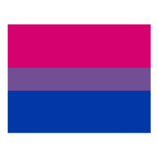 Bisexual Pride Flag Postcard