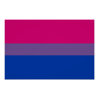Bisexual Pride Flag Poster