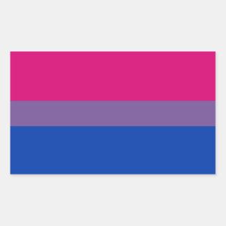 Bisexual Pride Flag Rectangular Sticker