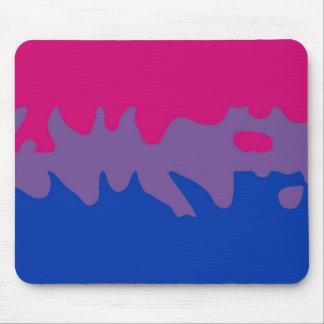 Bisexual Pride Flag Splash Mouse Pad