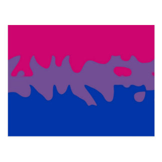 Bisexual Pride Flag Splash Postcard